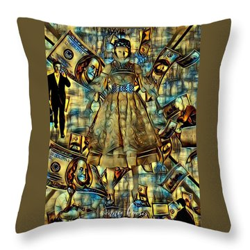 The Business Of Humans Throw Pillow by Vennie Kocsis