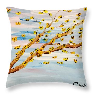 The Butterfly Tree Throw Pillow
