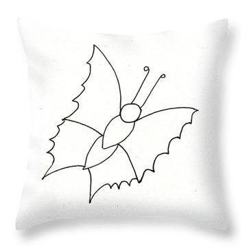 The Butterfly With No Spots Throw Pillow