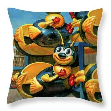 The Buzz Throw Pillow
