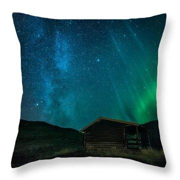 The Cabin Throw Pillow