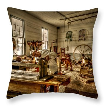 The Cabinetmaker Throw Pillow