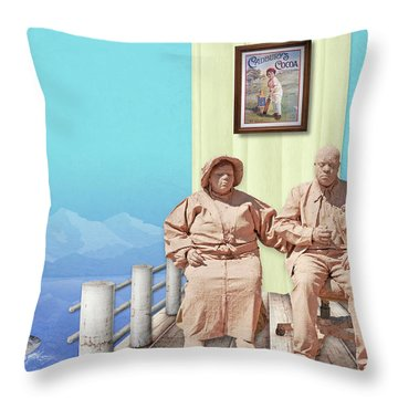 The Cadburys On Vacation Throw Pillow