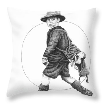 The Caddy Throw Pillow by Lawrence Tripoli