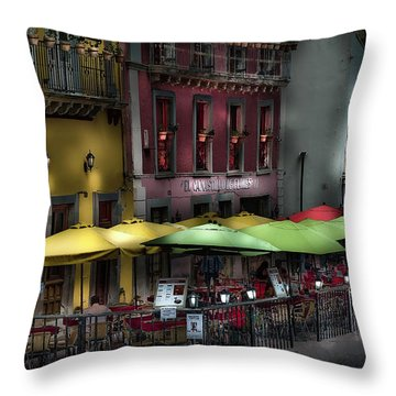 The Cafe At Night Throw Pillow