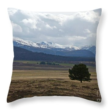 The Cairngorms From Dorback Throw Pillow