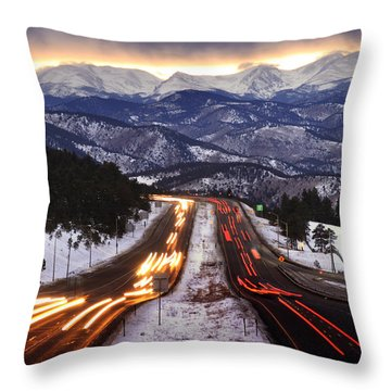 The Call Of The Mountains Throw Pillow