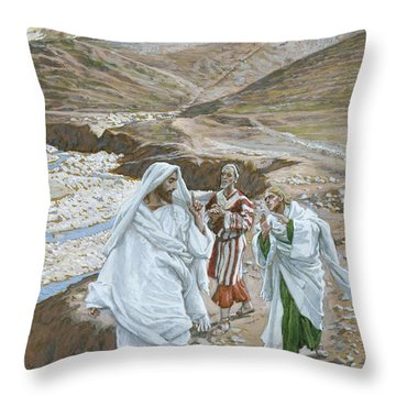 The Calling Of St. Andrew And St. John Throw Pillow by Tissot