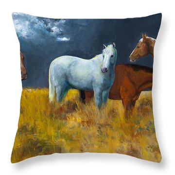 The Calm After The Storm Throw Pillow by Frances Marino