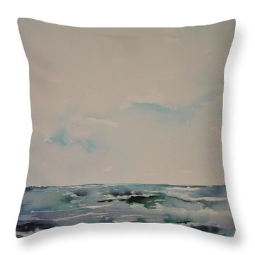 The Calm After The Storm Throw Pillow by Robin Miller-Bookhout