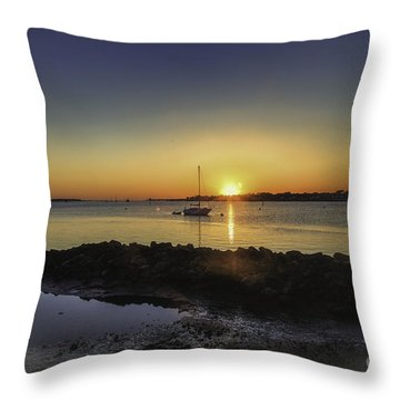 The Calm At Sunrise Throw Pillow