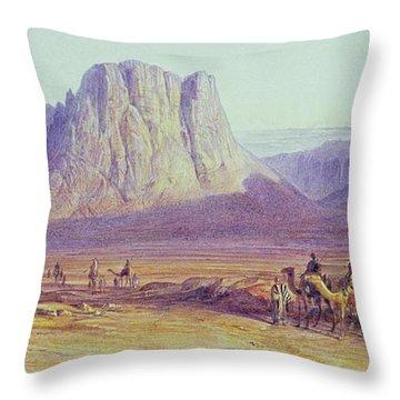 The Camel Train Throw Pillow