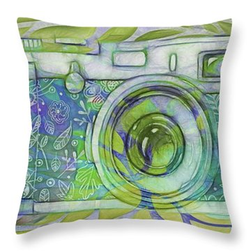 Throw Pillow featuring the digital art The Camera - 02c5b by Variance Collections