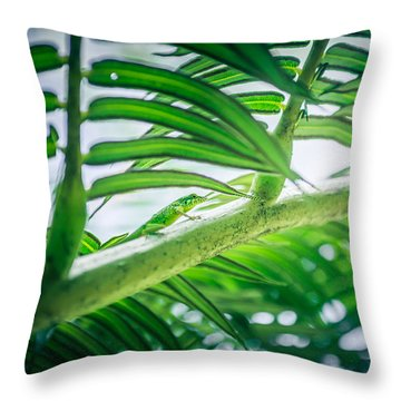 The Camouflaged Throw Pillow