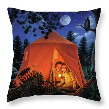 The Campout Throw Pillow