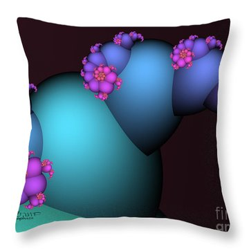 The Candy Plant Throw Pillow by Jutta Maria Pusl