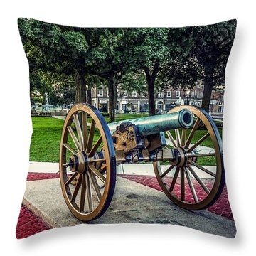 The Cannon In The Park Throw Pillow
