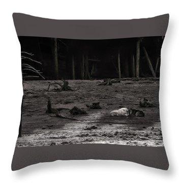 The Canyon Alphas B/w Throw Pillow