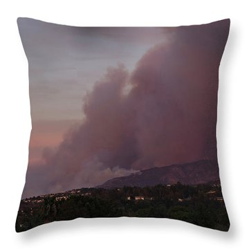 The Canyon Fire Throw Pillow by Angela A Stanton