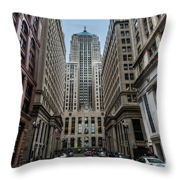 The Canyon In The Financial District Throw Pillow