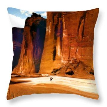 The Canyon Throw Pillow by Paul Sachtleben