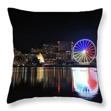 The Capital Wheel Over The Potomac Throw Pillow