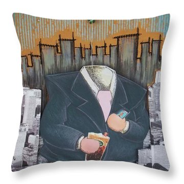 The Capitalist Throw Pillow