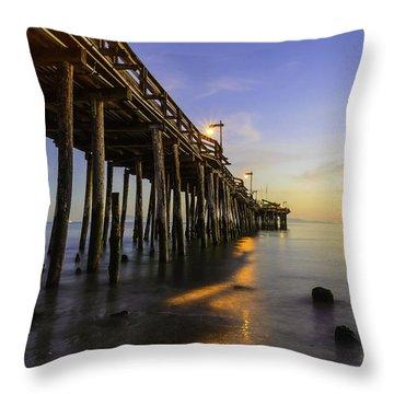 The Capitola Pier Throw Pillow