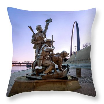 The Captain Returns With Arch Throw Pillow