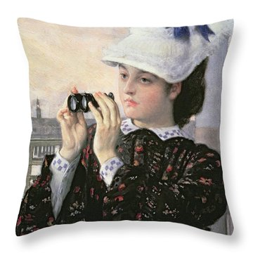 The Captain's Daughter Throw Pillow by Tissot