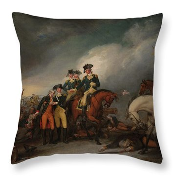 The Capture Of The Hessians At Trenton Dec 26, 1776 Throw Pillow