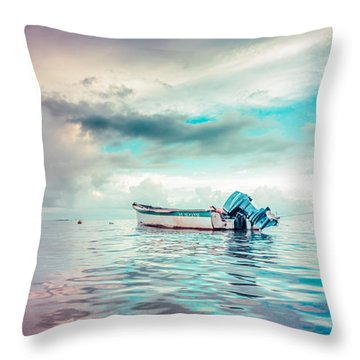 The Caribbean Morning Throw Pillow