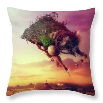 The Carnival Is Over Throw Pillow