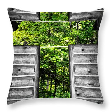 The Carpenters Cross Throw Pillow