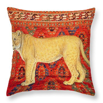 The Carpet Mouse Throw Pillow by Ditz