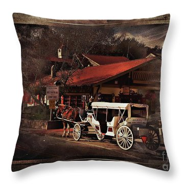 The Carriage Throw Pillow by Bob Pardue