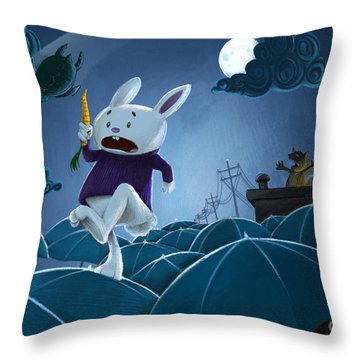 The Carrot Thief Throw Pillow