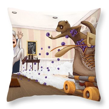 The Case Of The Missing Blueberries Throw Pillow
