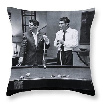 The Cast Of Ocean's 11 Throw Pillow by The Titanic Project
