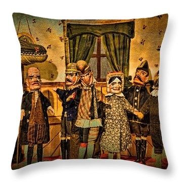 The Cast Takes A Bow Throw Pillow by Chris Lord