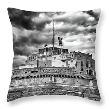 The Castle Of Sant'angelo In Rome Throw Pillow