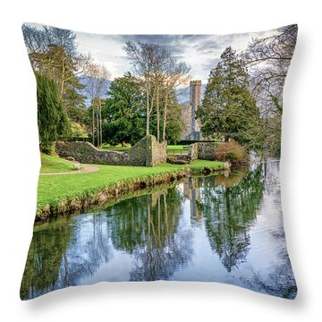 The Castle Walk Throw Pillow