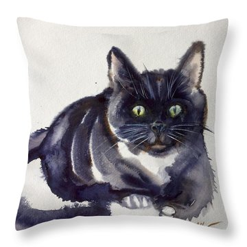 The Cat 8 Throw Pillow