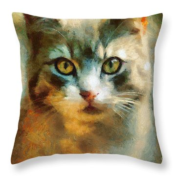 The Cat Eyes Throw Pillow
