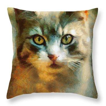 The Cat Eyes Throw Pillow