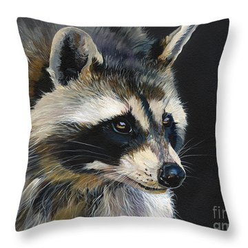 The Cat Food Bandit Throw Pillow by J W Baker