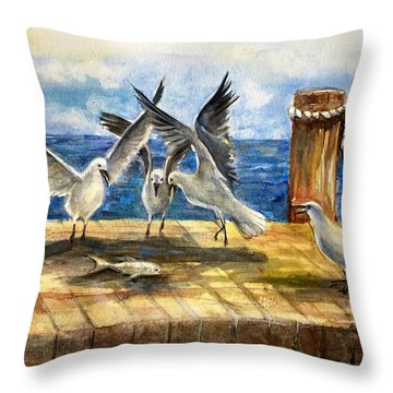 The Catch Is Mine Throw Pillow