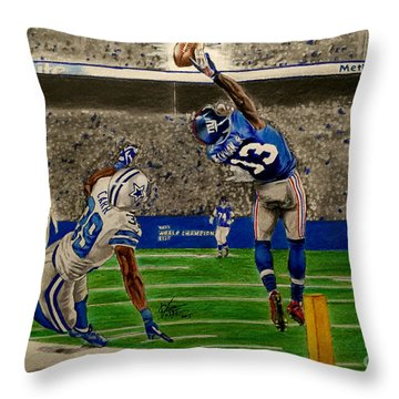 The Catch - Odell Beckham Jr. Throw Pillow