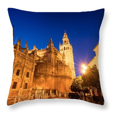 The Cathedral Of Seville Throw Pillow