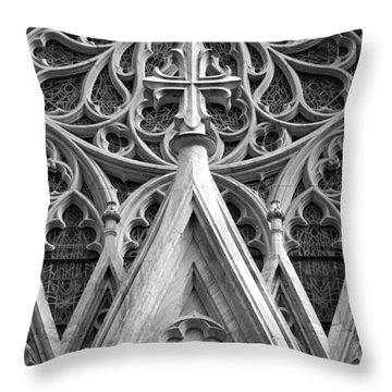 The Cathedral Of St. Patrick Close Up Throw Pillow